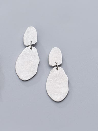 925 Sterling Silver With 18k Gold Plated Trendy Geometric Drop Earrings