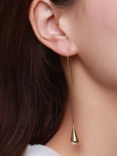 All-match Gold Plated Geometric Titanium Drop Earrings