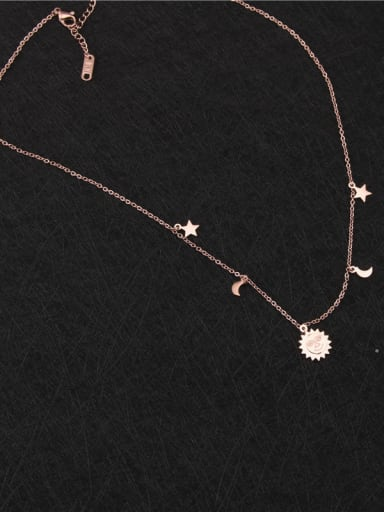Sun Moon Fashion Clavicle Necklace