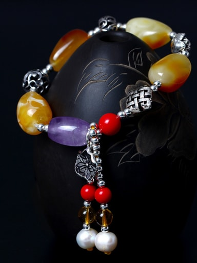 Colorful Festival National Tassel Bracelet