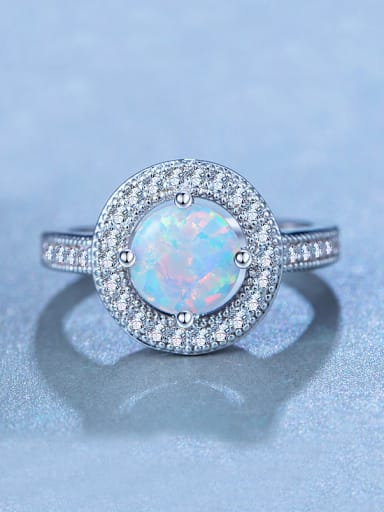 Opal Stone Engagement Ring