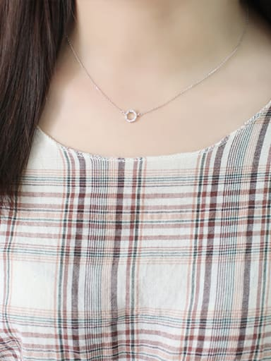 Sterling Silver Mini geometric Zircon Necklace