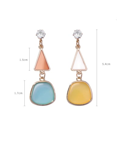 Alloy With Rose Gold Plated Simplistic Geometric Drop Earrings