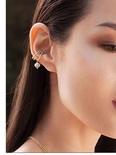 Creative zircon ear pierced earrings
