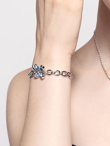 2018 Clover Shaped Crystal Bracelet