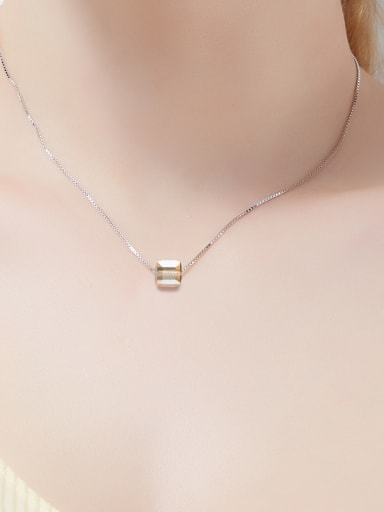 Swarovski Crystals Square-shaped Necklace