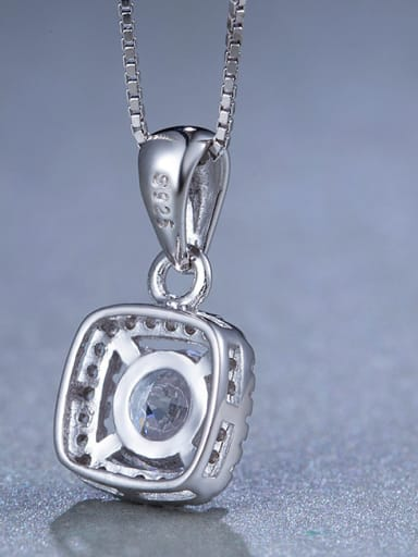 Square Zircon necklace