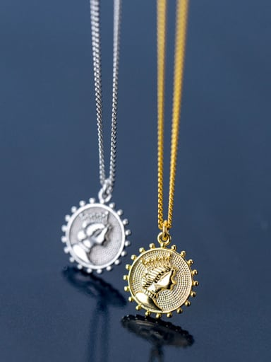 925 Sterling Silver With 18k Gold Plated Fashion Sun Goddess Necklaces