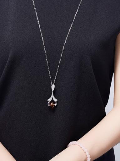 Swarovski Crystals Flower-shaped Necklace
