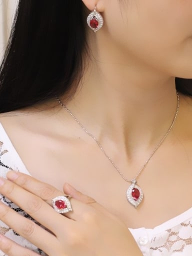 Fashion Leave Shaped Jewelry Set