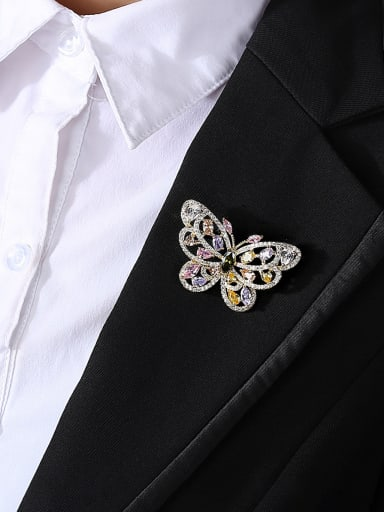 Copper With Gold Plated Delicate Butterfly Brooches