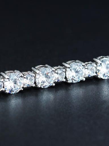 2018 Platinum Plated Zircon Bracelet