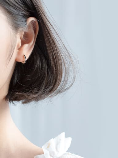 925 Sterling Silver With Platinum Plated Delicate Clip On Earrings