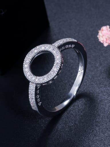 Copper With Cubic Zirconia Simplistic Round Band Rings