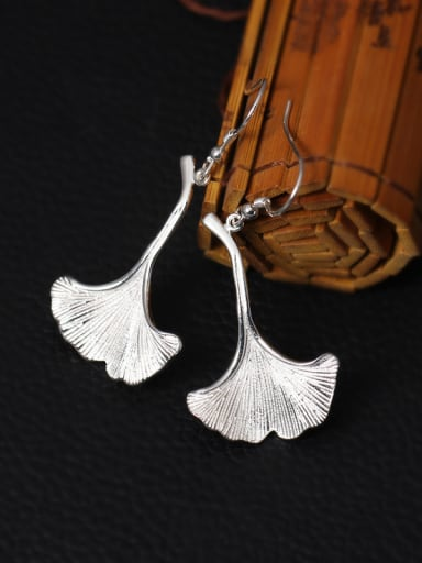 National Style Ginkgo Leave Drop hook earring