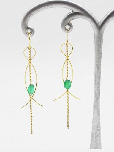 Exquisite Figure 8 Shaped Gemstone Earrings