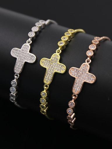 Cross Zircon Stretch Bracelet