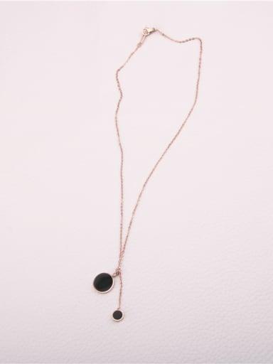 Double Round Pendants Fashion Necklace