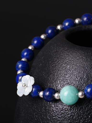 Shell Flower Lapis Lazuli Bracelet
