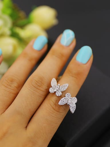 Butterfly Opening Copper Ring