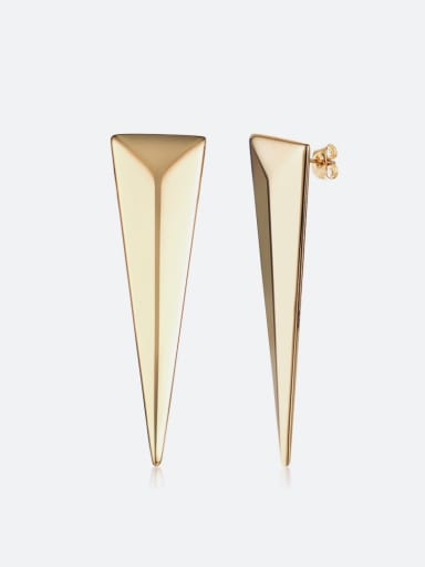 Trendy triangle stainless steel studs earring