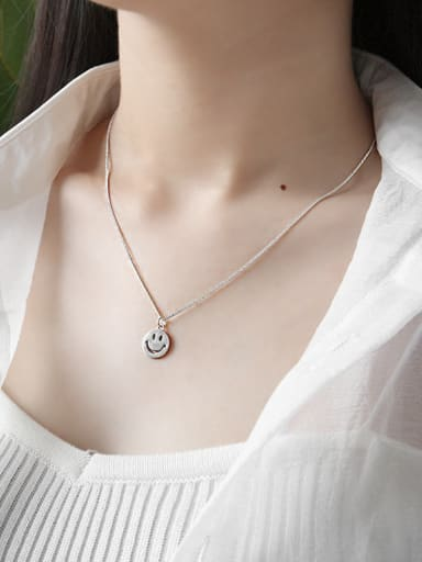 Sterling Silver minimalist smile Necklace