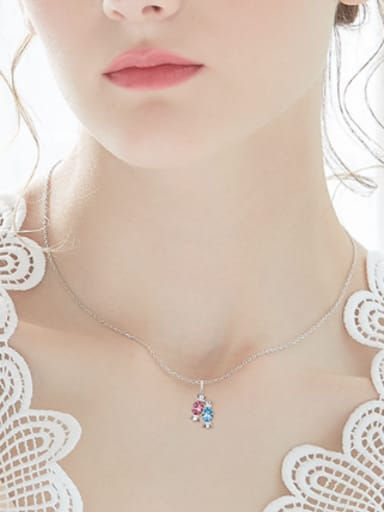 Personalized Little Candies Swarovski Crystals Necklace