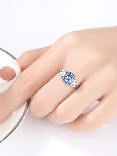 Sterling Silver Sapphire free size Ring