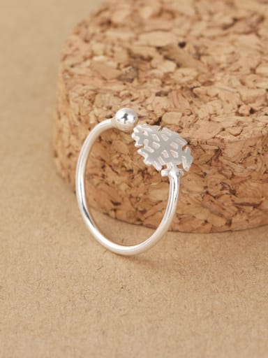 Simple Snowflake Opening Midi Ring