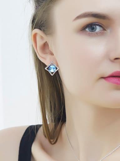 Blue Swarovski Crystal stud Earring