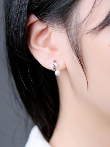 Freshwater Pearl Leaves stud Earring