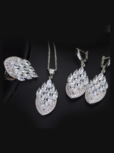 Exquisite Luxury Wedding Accessories Jewelry Set