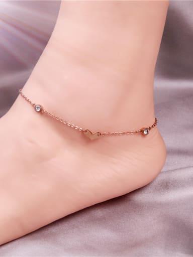 Zircon Accessories Korean Style Anklet