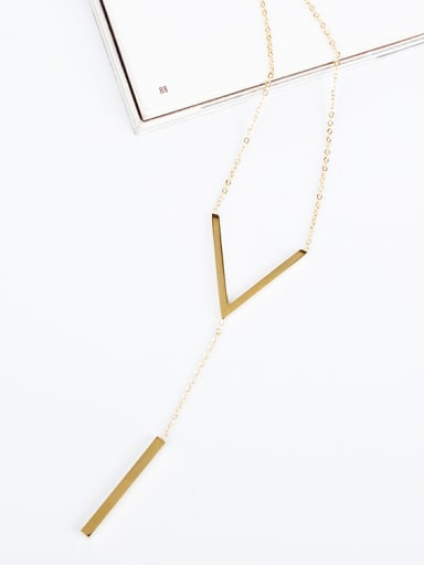 Delicate 16K Gold Plated V Shaped Necklace