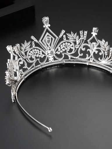 Copper With Platinum Plated Delicate Crown Tiaras & Crowns