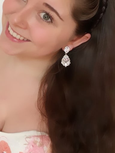Elegant Water Drop Shaped  Cluster earring