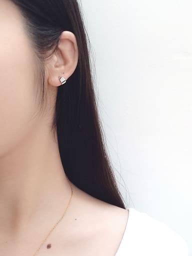 Sterling Silver personality minimalist geometric Mini Curve ear studs