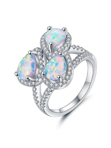 Fashion Water Drop shaped Opal Stones Ring