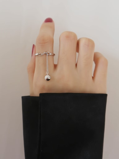 Sterling Silver simple free size ring