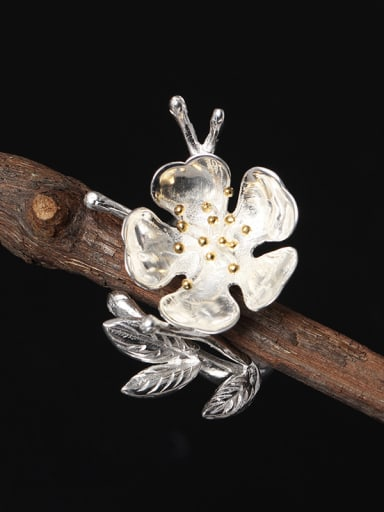 Plum Blossom Women Opening Ring