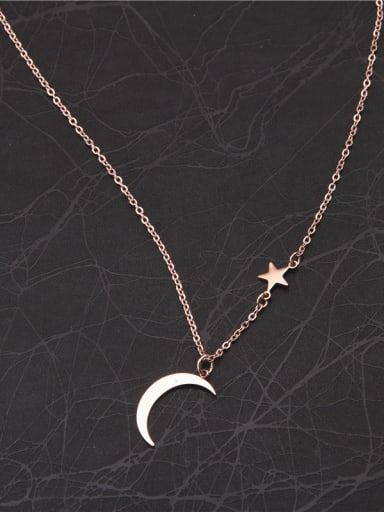 Sweet Korean Style Moon Necklace