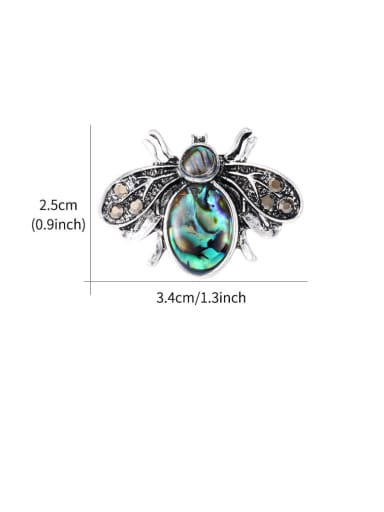 Alloy With Antique Silver Plated Cute Insect  Bee Brooches