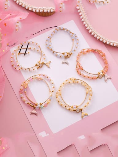 Alloy With Rose Gold Plated Fashion Fish Tail Pendant Bracelets