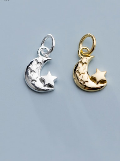 925 Sterling Silver With Smooth Simplistic Moon Charms