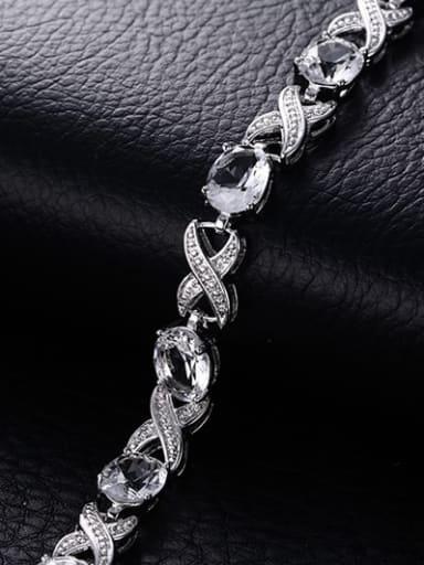 Fashion Letter X Shaped AAA Zircon Bracelet