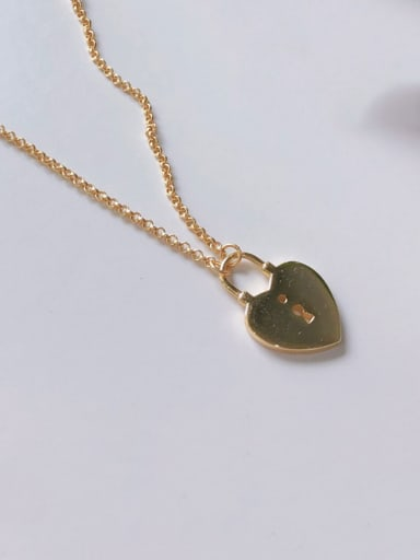 925 Sterling Silver With Gold Plated Cute Smooth Heart Locket Necklace