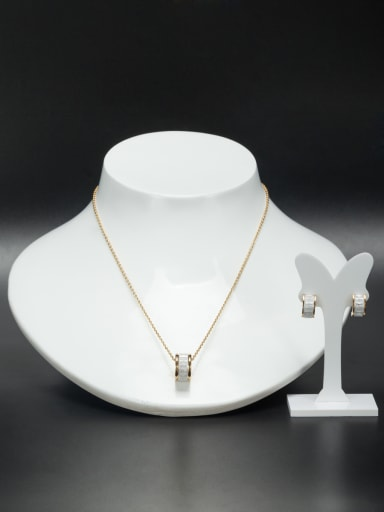 Stainless steel Round Gold Beautiful 2 Pieces Set