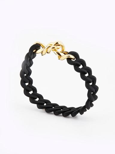chain Gold Plated PVC Gold Charm Bracelet