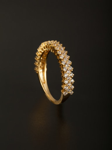 Personalized Copper White Zircon Ring Combination of the ring