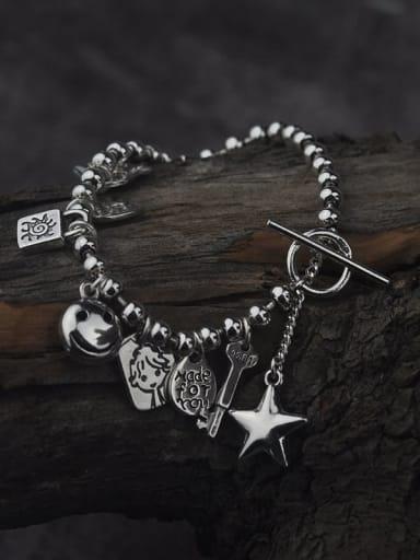 Vintage Sterling Silver With Antique Silver Vintage Locket Bracelets